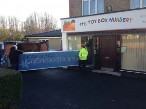 Wellingborough Day Nursery's new sign