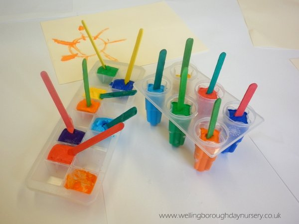 Frozen paint lollies