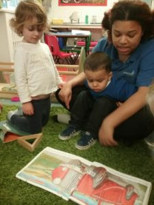 Reading at Wellingborough Day Nursery preschool