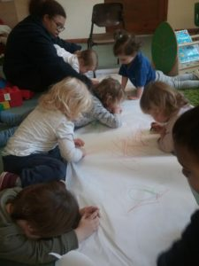 Write Dance in the preschool room at Wellingborough Day Nursery