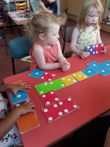 domino game at Wellingborough Day Nursery