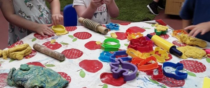 playdough at Wellingborough Day Nursery